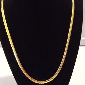 18ktgf paved cuban link necklace